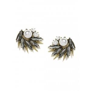 Buy Toniq Silver Stone Embellished Earrings - Nykaa