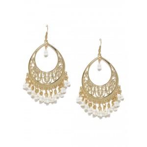 Buy Toniq White Firdosi Earrings - Nykaa