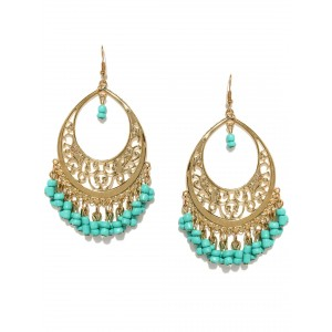 Buy Toniq Turquoise Firdosi Earrings - Nykaa
