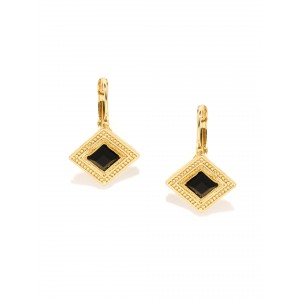 Buy Toniq Black Double Diamond Earrings - Nykaa
