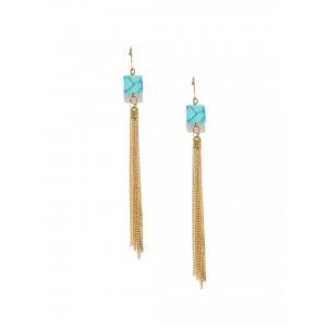 Buy Toniq Turquoise Fringed Earrings - Nykaa