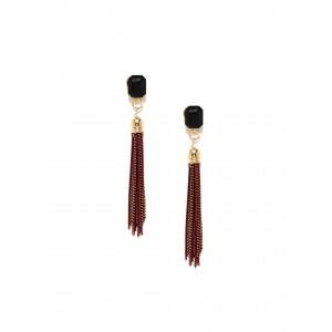 Buy Toniq Brown Tassel Earrings - Nykaa