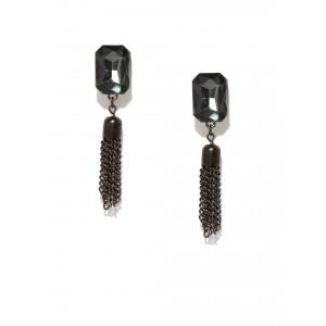 Buy Toniq Black Tassel Earrings - Nykaa