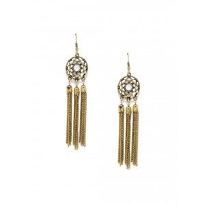 Buy Toniq Golden Dream Catcher Drop Earrings - Nykaa