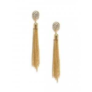 Buy Toniq Gold Tassel Earrings - Nykaa