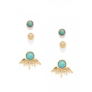 Buy Toniq Turquoise Earstud Set - Nykaa