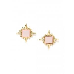 Buy Toniq Pink Spiked Ear Studs - Nykaa