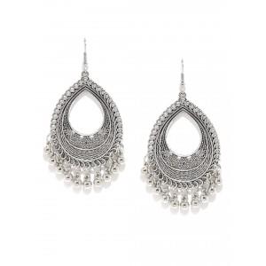Buy Toniq Silver Drop Earrings - Nykaa