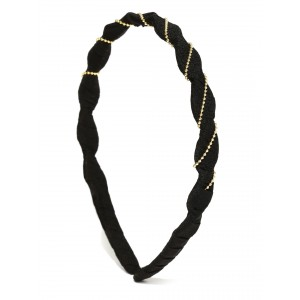 Buy Toniq Black Knotted Hair Band - Nykaa