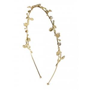 Buy Toniq Gold Leafy Hair Band - Nykaa