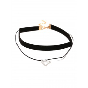 Buy Toniq Black Triangle Choker Necklace - Nykaa