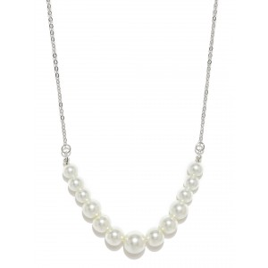 Buy Toniq Silver Moony Pearl Necklace - Nykaa