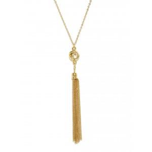 Buy Toniq Gold Tassel Chain Necklce - Nykaa