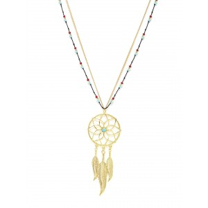 Buy Toniq Turquoise Dream Catcher Necklace - Nykaa