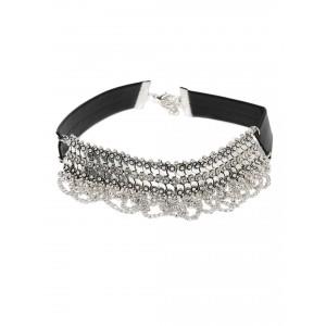 Buy Toniq Celine Silver Choker - Nykaa
