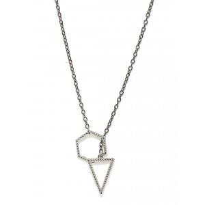 Buy Toniq Silver Hilary Charm Necklace - Nykaa