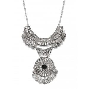 Buy Toniq Silver Bohemian Bid Necklace - Nykaa
