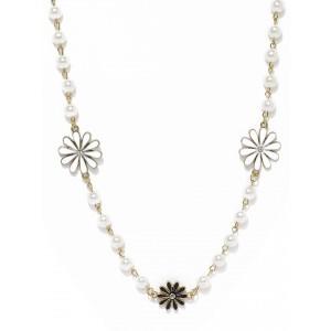 Buy Toniq White Matinee Necklace - Nykaa