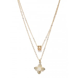 Buy Toniq Gold Floral Necklace - Nykaa