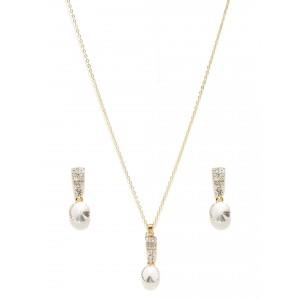 Buy Toniq Gold Toned Miranda Necklace Set - Nykaa