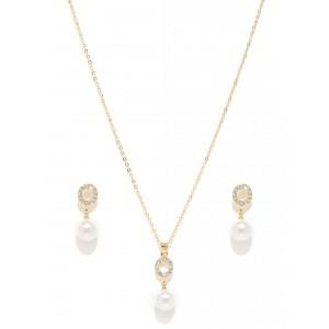 Buy Toniq Pearly Dream Gold Toned Necklace Set - Nykaa