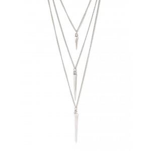 Buy Toniq Silver Spike Necklace - Nykaa