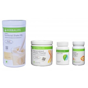 Buy Herbalife Weight Loss Pack- French Vanilla, Cell-U-Loss, Protein Powder & Peach  - Nykaa