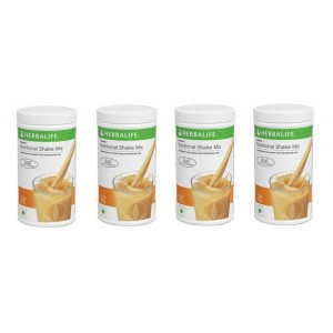 Buy Herbalife Meal Replacement Shake - Orange Cream 500 g - Set of 4 - Nykaa