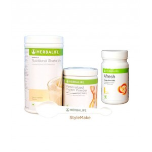 Buy Herbalife Weight Loss Combo - French Vanilla Protein Powder & Afresh Lemon - Nykaa