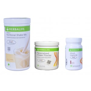 Buy Herbalife Weight Loss Combo - French Vanilla, Protein Powder & Afresh Elaichi - Nykaa