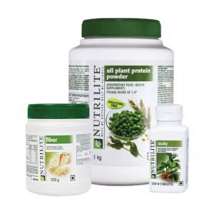 Buy Amway Nutrilite Protein Powder (1Kg) Fiber & Daily-120 (Combo Of 3) - Nykaa