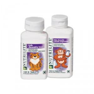 Buy Amway Nutrilite Kids Combo (Kids Cal / Mag & Iron) - Nykaa