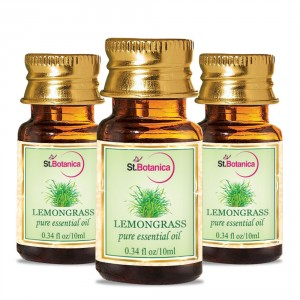 Buy Herbal St.Botanica Lemongrass Pure Aroma Essential Oil - 10ml x 3 - Nykaa