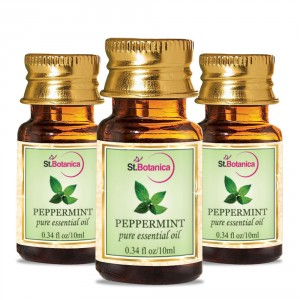 Buy St.Botanica Peppermint Pure Aroma Essential Oil - 10ml x 3 - Nykaa