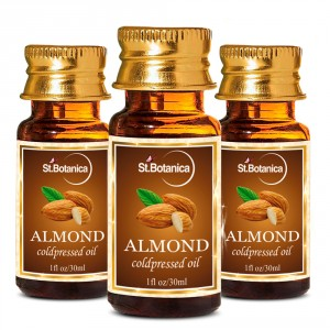 Buy St.Botanica Almond Pure Coldpressed Carrier Oil - 30ml x 3 - Nykaa