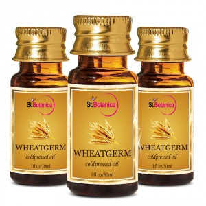 Buy Herbal St.Botanica Wheatgerm Pure Coldpressed Carrier Oil - 30ml x 3 - Nykaa