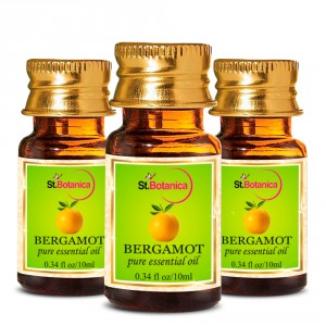 Buy Herbal St.Botanica Bergamot Pure Aroma Essential Oil - 10ml x 3 - Nykaa