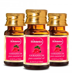 Buy St.Botanica Geranium Pure Aroma Essential Oil - 10ml x 3 - Nykaa
