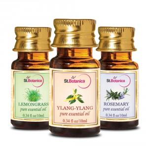 Buy St.Botanica Ylang-Ylang + Lemongrass + Rosemary Pure Essential Oil -10ml x 3 - Nykaa