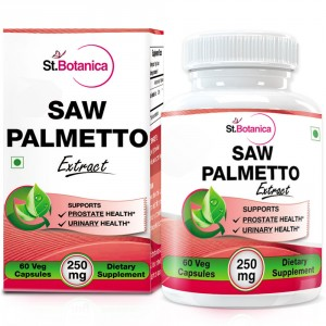 Buy St.Botanica Saw Palmetto 250mg Extract  - 60 Veg. Caps - Nykaa