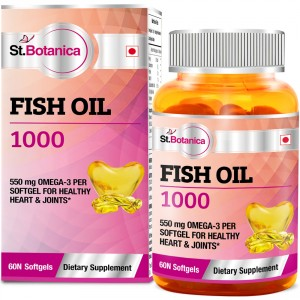Buy St.Botanica Fish Oil 1000 mg - Double Strength - 550 mg Omega 3 - Nykaa