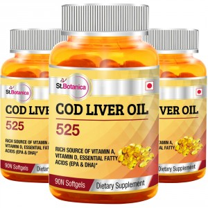 Buy St.Botanica Cod Liver Oil 525 - 3 Bottles - Nykaa