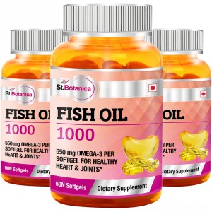 Buy St.Botanica Fish Oil 1000 mg - Double Strength - 550 mg Omega 3 - 3 Bottles - Nykaa