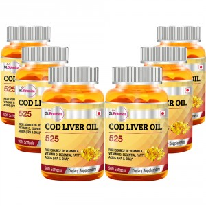 Buy St.Botanica Cod Liver Oil 525 - 6 Bottles - Nykaa