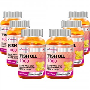 Buy St.Botanica Fish Oil 1000 mg - Double Strength - 550 mg Omega 3 - 6 Bottles - Nykaa