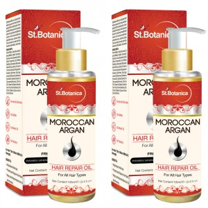 Buy St.Botanica Moroccan Argan Hair Repair Oil (Pack of 2) - Nykaa