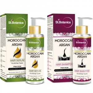 Buy Herbal St.Botanica Moroccan Argan Hair Serum + Hair Shampoo (Combo Pack) - Nykaa