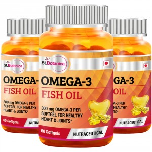 Buy St.Botanica Omega 3 Fish Oil - 60 Softgels (Pack of 3) - Nykaa