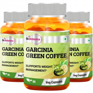 Buy St.Botanica Garcinia Green Coffee 500mg Extract - 90 Veg Caps (Pack of 3) - Nykaa