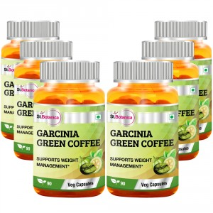 Buy St.Botanica Garcinia Green Coffee 500mg Extract - 90 Veg Caps (Pack of 6) - Nykaa